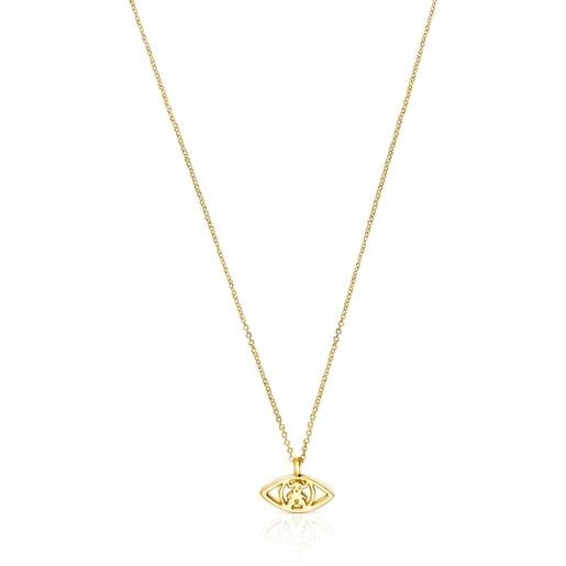 Gold TOUS Good Vibes eye Necklace