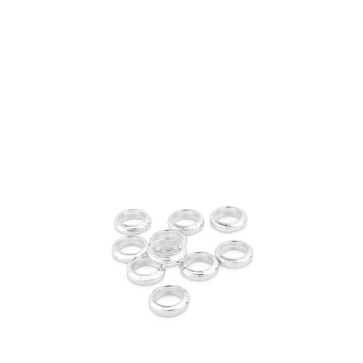 Pack of 10 Silver Hold rings