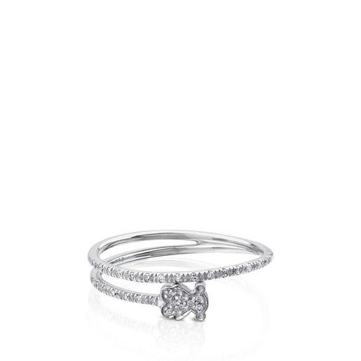 Solitario TOUS Diamonds de Oro blanco con Diamantes motivo Oso