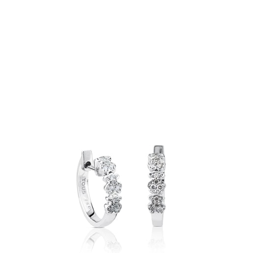 Aretes TOUS Bear de Oro blanco con Diamantes