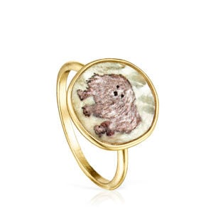 La XIII Ring in Gold Vermeil with Mother-of-Pearl