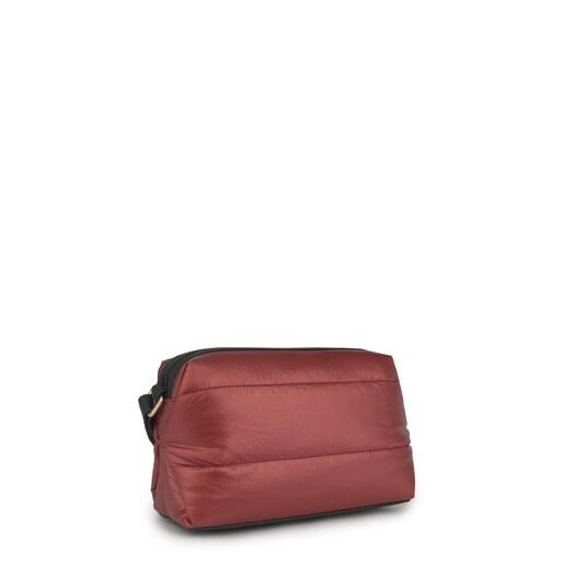 Ροζ/μαύρη τσάντα Χιαστί Pleat Up
