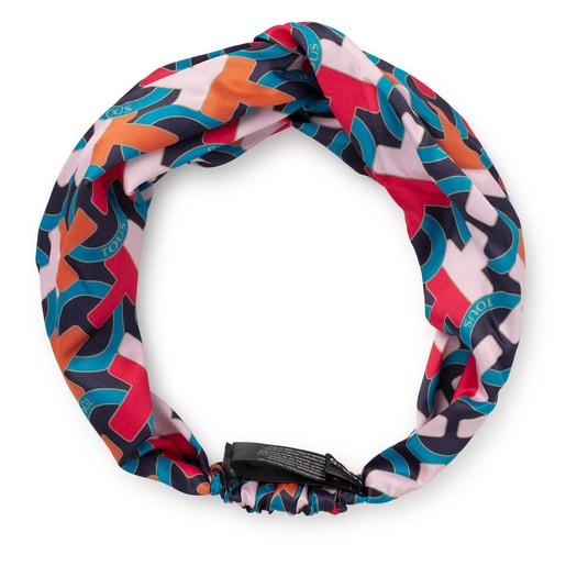 Orange elastic T Hold Headband