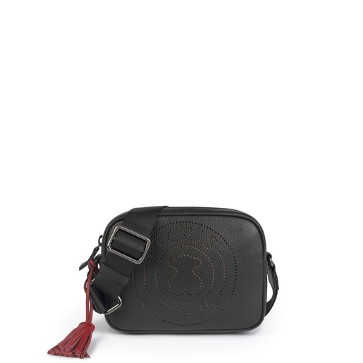 Small leather black Leissa crossbody bag
