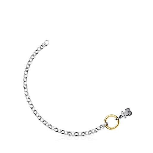 Silver, Silver Vermeil and Dark Silver Hold Bracelet