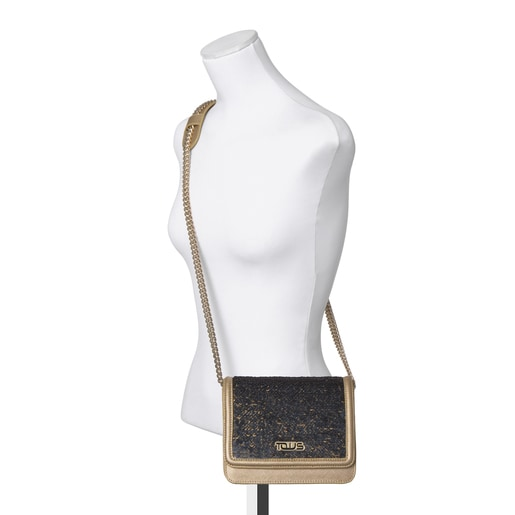 Ruby Crossbody bag with gold/silver-colored sequins