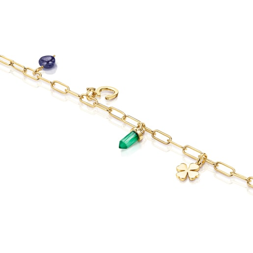 Silver Vermeil TOUS Good Vibes Bracelet with Gemstones