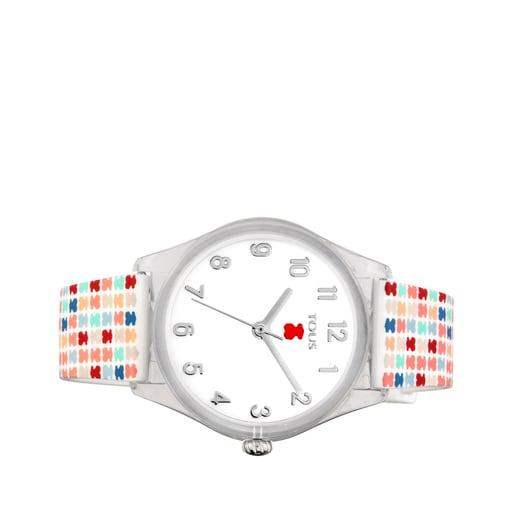 Reloj Tartan Kids de policarbonato con correa de silicona multicolor