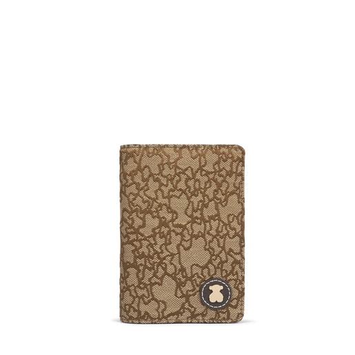 Funda de passaport Kaos Mini Jacquard camel