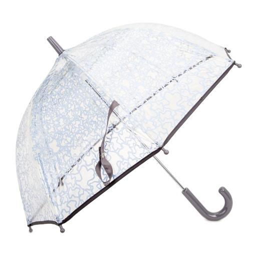 Paraguas transparente Kaos Azul Celeste