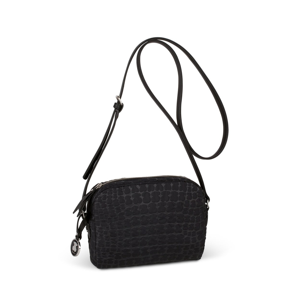780733ed0e5 Black Canvas Sherton Nylon Crossbody bag - Tous Site US