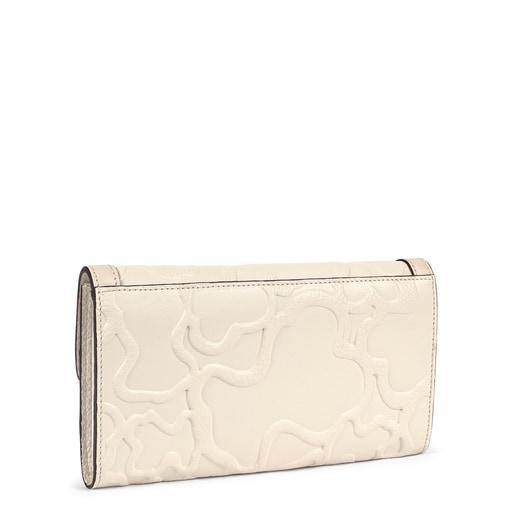 Medium beige Leather TOUS Icon Wallet