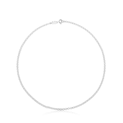 40cm Silver TOUS roller-style Choker with round rings.