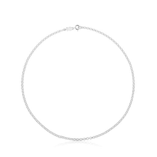 Cadena TOUS rolo de plata con anillas redondas, 40cm.