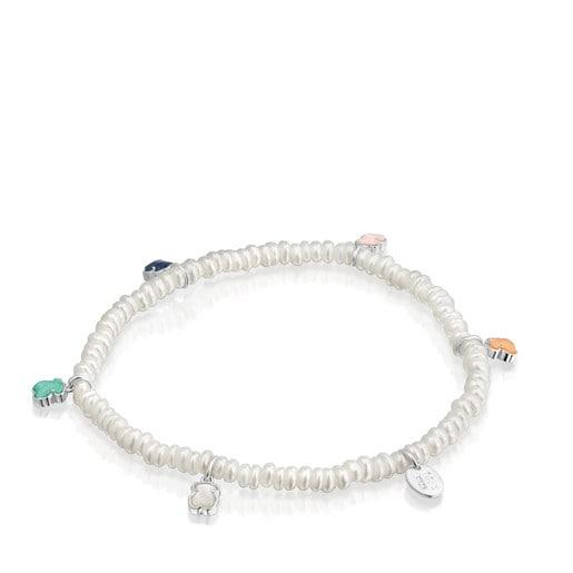 Mini Color Bracelet in Pearls and Gemstones