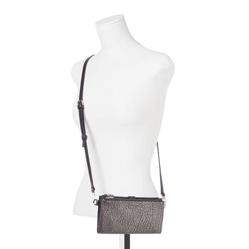 Πορτοφόλι-τσάντα clutch Bridgy από Δέρμα σε ασημί χρώμα