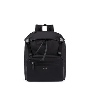 Black Nylon New Berlin Backpack with flap