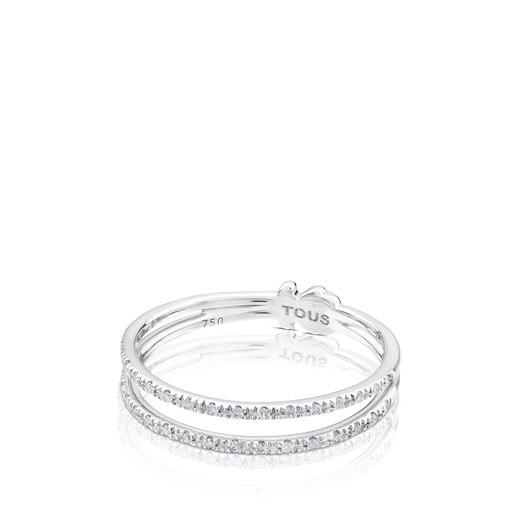 White Gold TOUS Diamond Ring with Diamonds 0.09ct