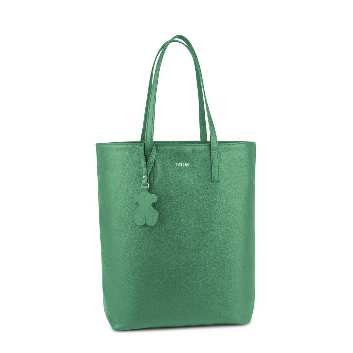 Shopping Chaplin de Pell de color verd