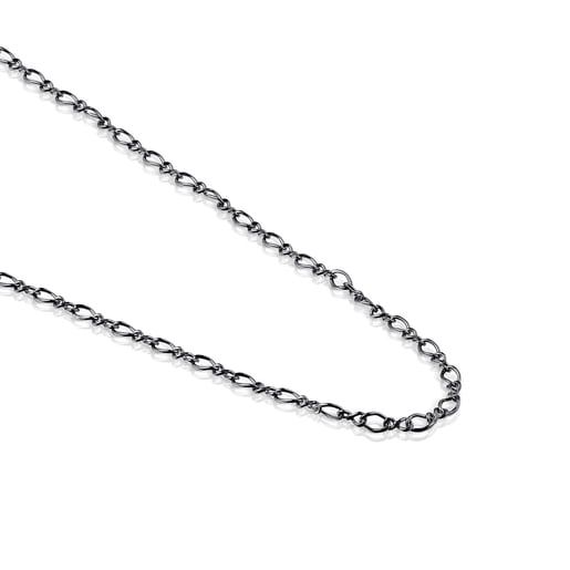 Dark Silver TOUS Chain curbed Choker