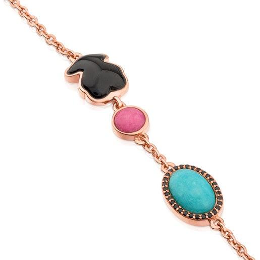 Bracelet Motif en argent vermeil rose