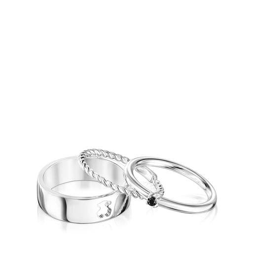 Ring-Set Ring Mix aus Silber mit Spinell