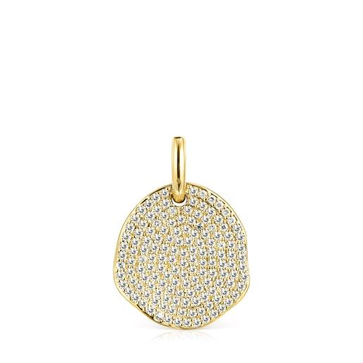 Colgante grande Nenufar de oro y diamantes