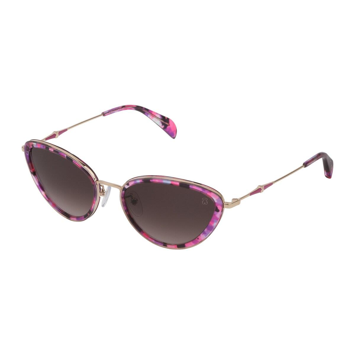 Violet Metal and Acetate Metal Bear Sunglasses