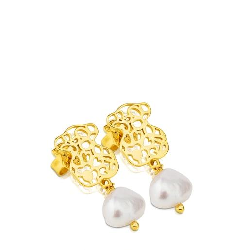 Ohrringe Bliss aus Vermeil-Silber