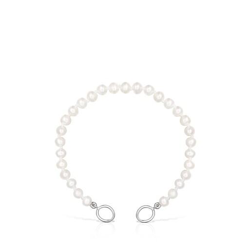 Armband Hold aus Silber mit Perlen