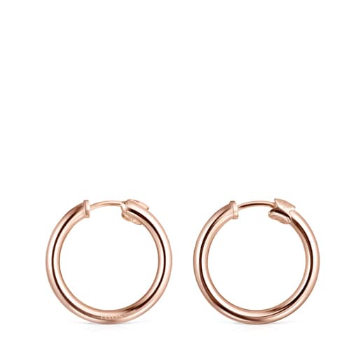 TOUS Basics small Earrings in Rose Silver Vermeil