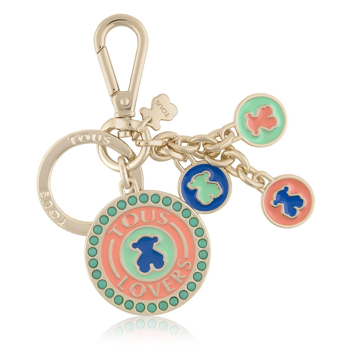 Porta-chaves TOUS Lovers Medals Azul - Laranja