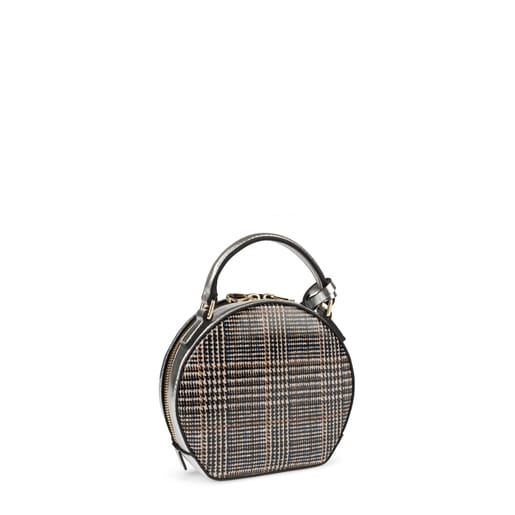 Mini silver Dulzena Charol crossbody bag