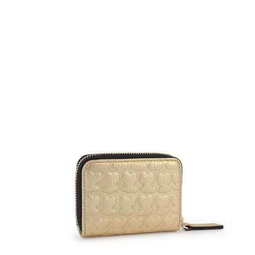 Medium golden leather Sherton purse