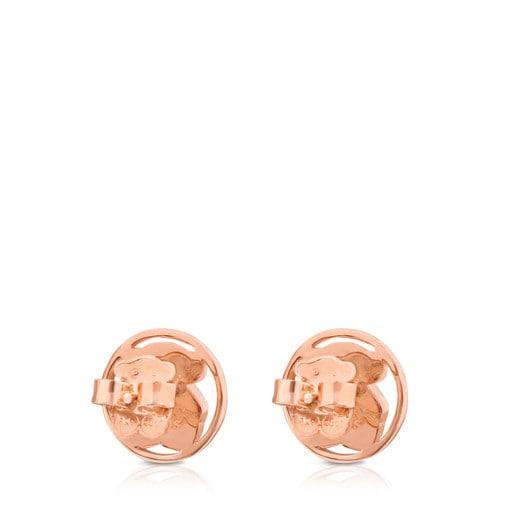 Aretes Camille de Plata Vermeil rosa con Nácar