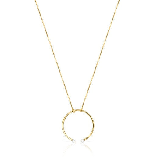 Batala TOUS Necklace in Silver Vermeil with Pearl 4cm.