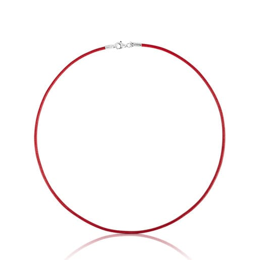 Red Leather TOUS Chokers Choker