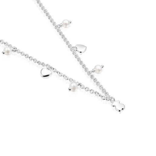 Collar de plata y perlas Cool Joy