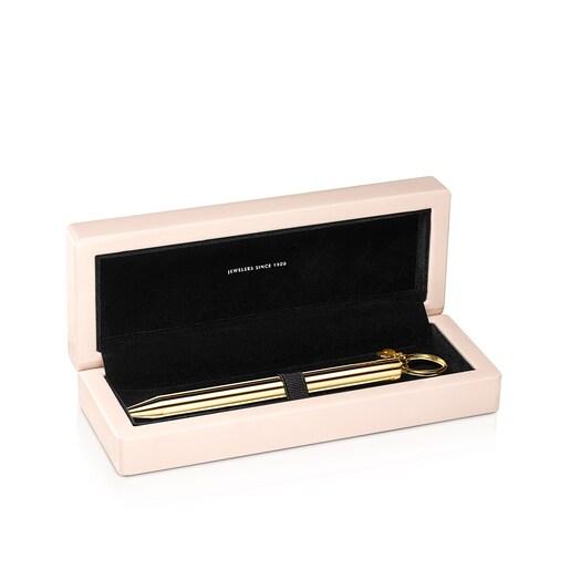 Στυλό Hold από Ατσάλι με Επίστρωση Χρυσού