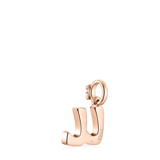 Pendentif Alphabet lettreLL en Or Vermeil rose