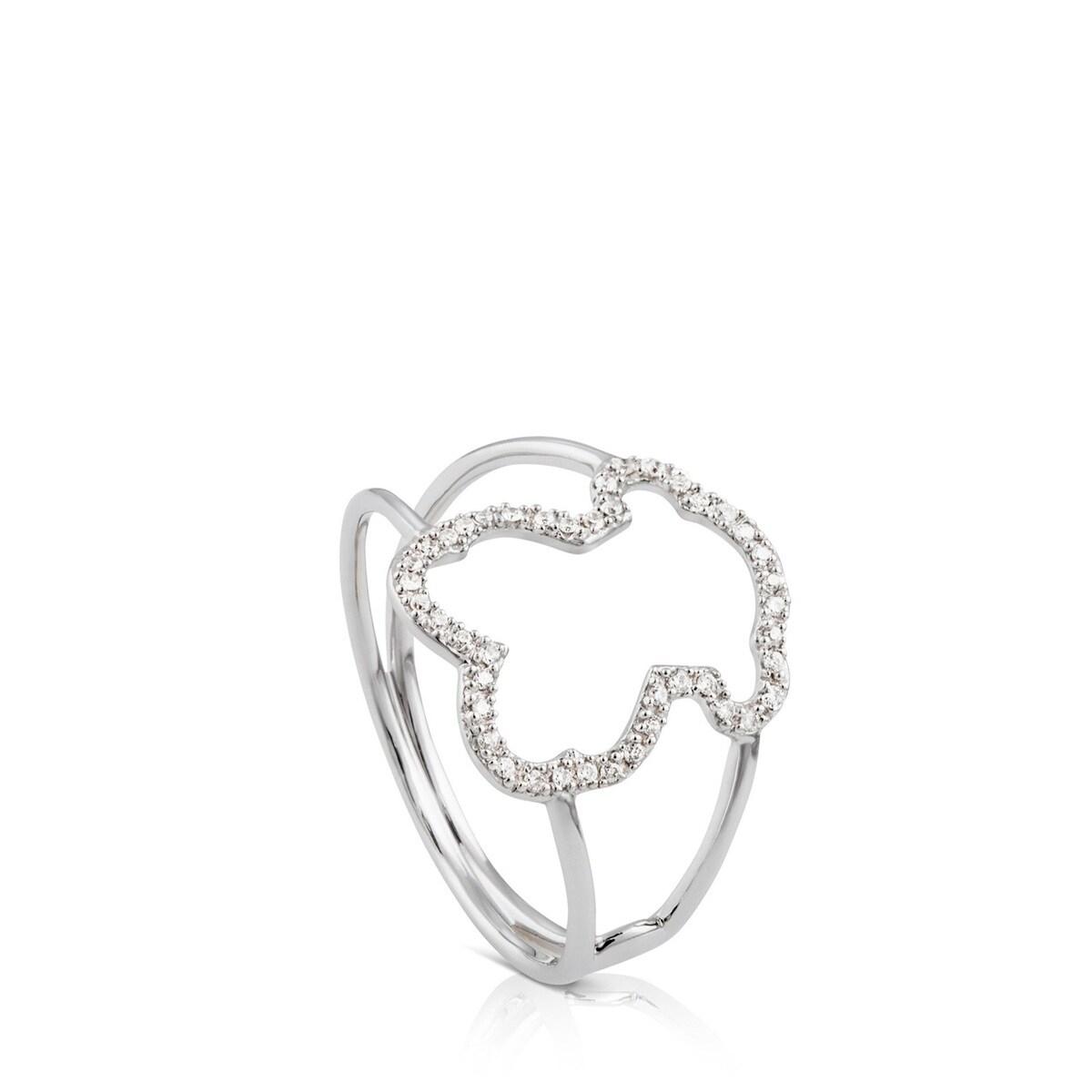リング SILUETA / ダイヤモンド付きホワイトゴールド 12号