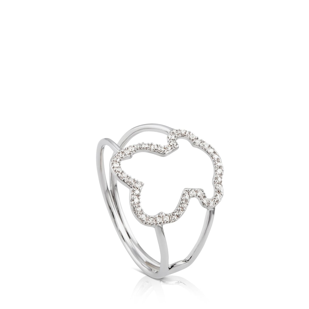 White Gold Silueta Ring with Diamond