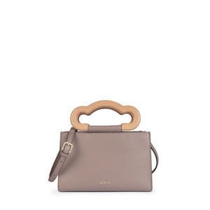 Small taupe Leather Marlen City bag