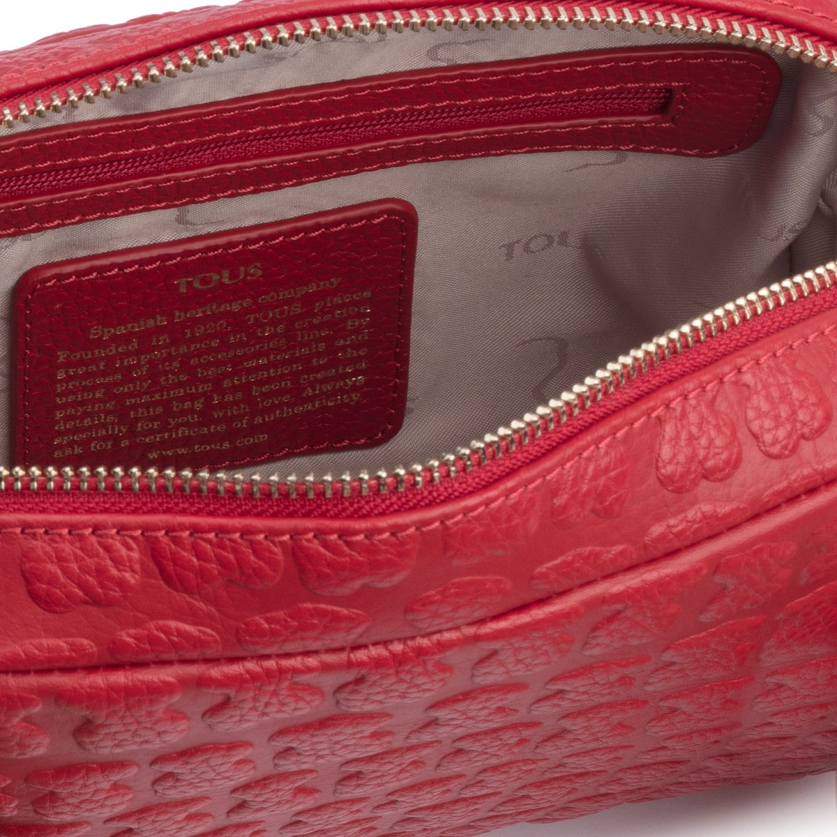 Red Leather Sherton Crossbody bag