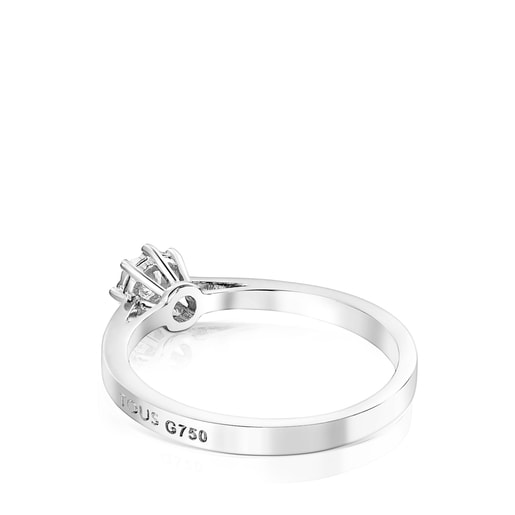 Anell Les Classiques petit d'Or blanc i Diamants