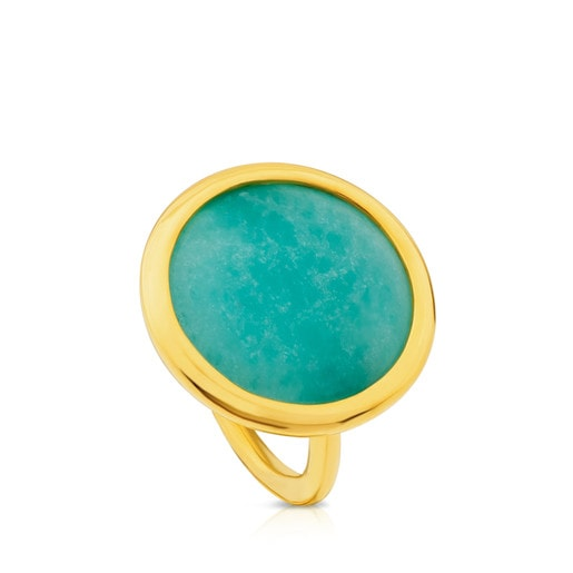 Vermeil Silver Alecia Ring with Amazonite