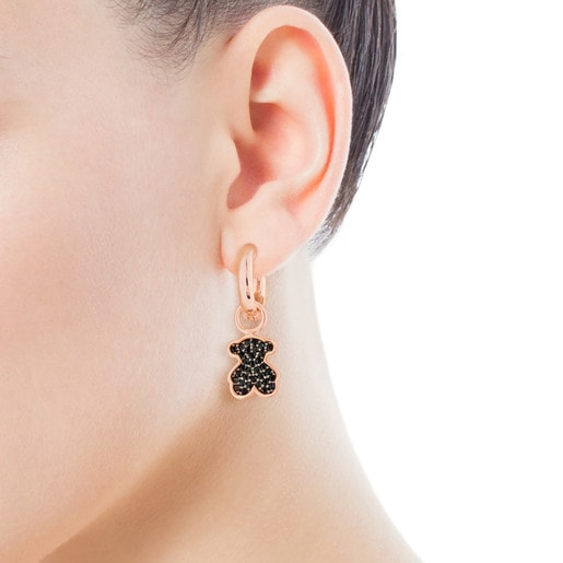 Rose Vermeil Silver TOUS Join Earrings with Spienls Bear motif