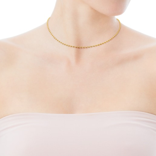 45cm Gold TOUS Chain Choker with rings and balls.