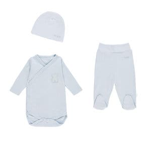 Bear newborn set in sky blue