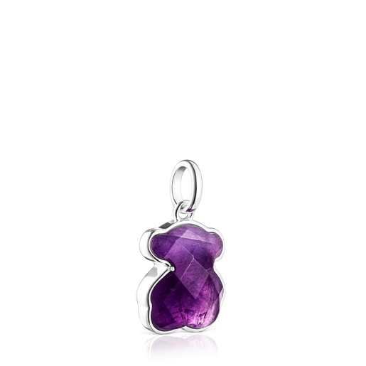 Silver and Amethyst Icon Color Pendant